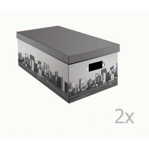 Set 2 cutii pentru depozitare Compactor NewYork, lățime 52 cm