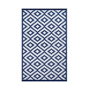 Modro-bílý oboustranný koberec vhodný i do exteriéru Green Decore Parucha, 120 x 180 cm