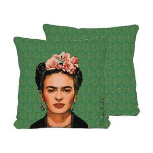 Față de pernă reversibilă Madre Selva Frida Draw, 45 x 45 cm