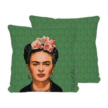 Față de pernă reversibilă Madre Selva Frida Draw, 45 x 45 cm de la Madre Selva