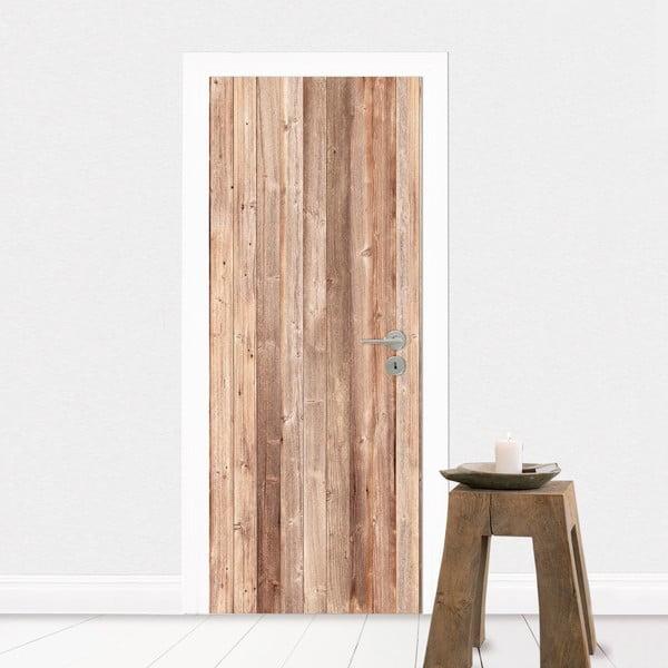 Samolepka na dveře Dřevo