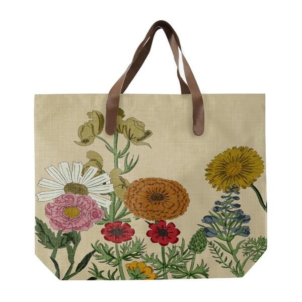 Sacoșă de pânză, model cu flori, Surdic Botanica
