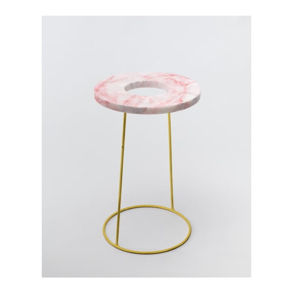 Růžový stojan na deštníky/květináč v dekoru mramoru Velvet Atelier