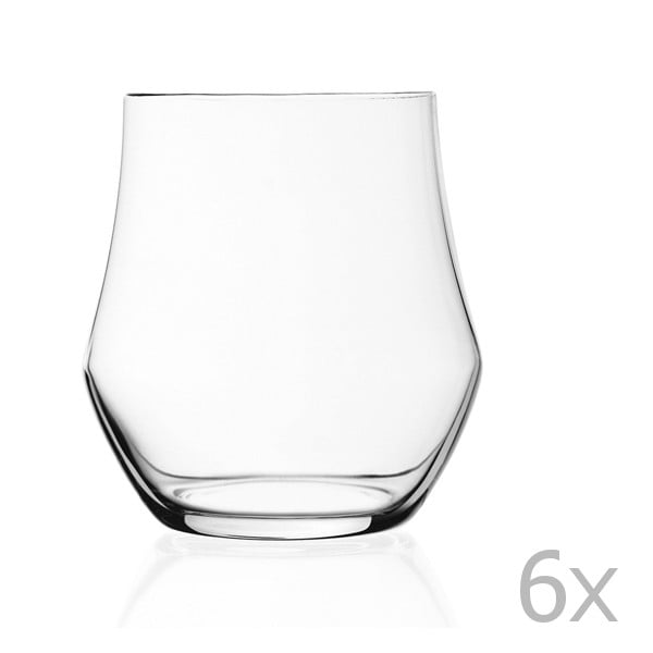 Zestaw 6 szklanek RCR Cristalleria Italiana Rosalba, 60 ml