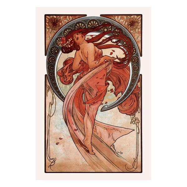 Reprodukce obrazu Alfons Mucha - Dance, 40x60cm