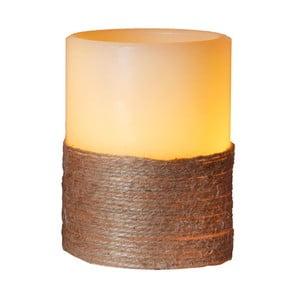 Bílá LED svíčka se sisalem Best Season, výška 10 cm