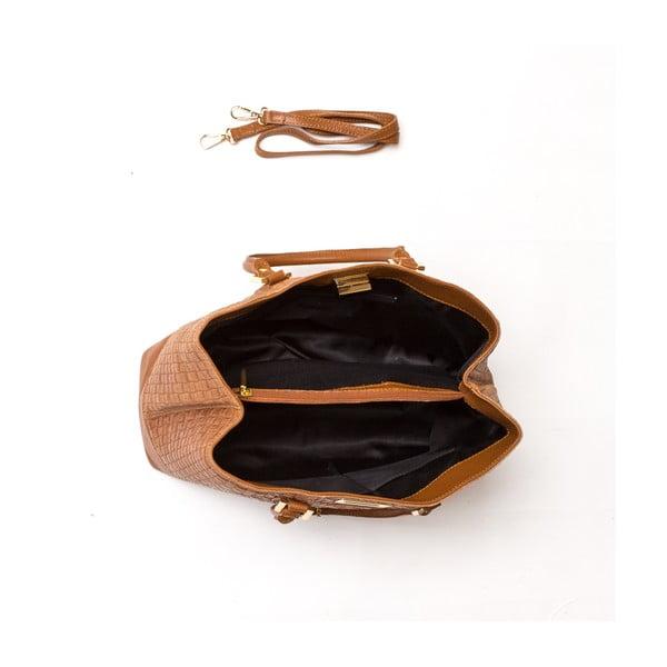 Kožená kabelka Coge, hnědá