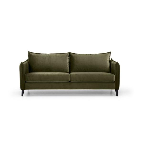 Leo khakizöld háromszemélyes kanapé - Softnord