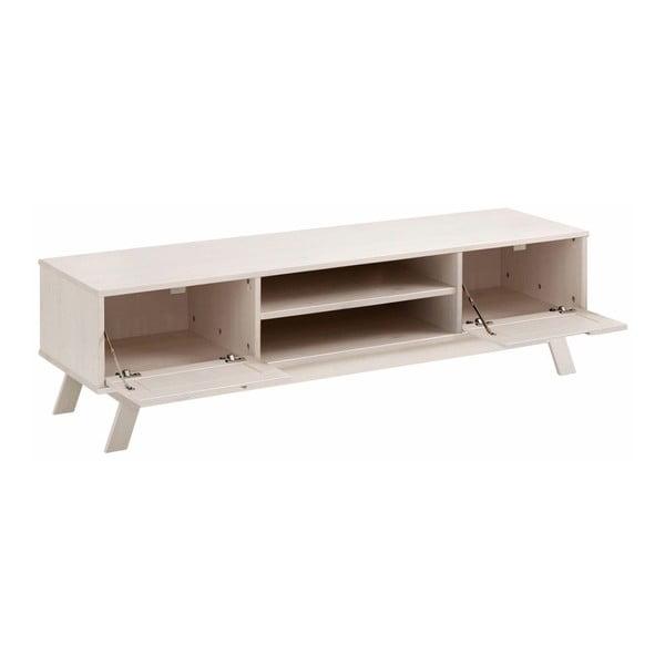 Nízká bílá dřevěná skříňka Støraa Olly