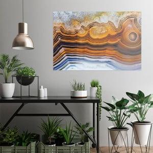 Skleněný obraz OrangeWallz Gemstone Earth, 76 x 114 cm