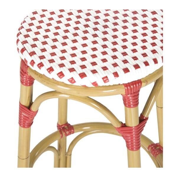 Barová židle Kiara Red/White