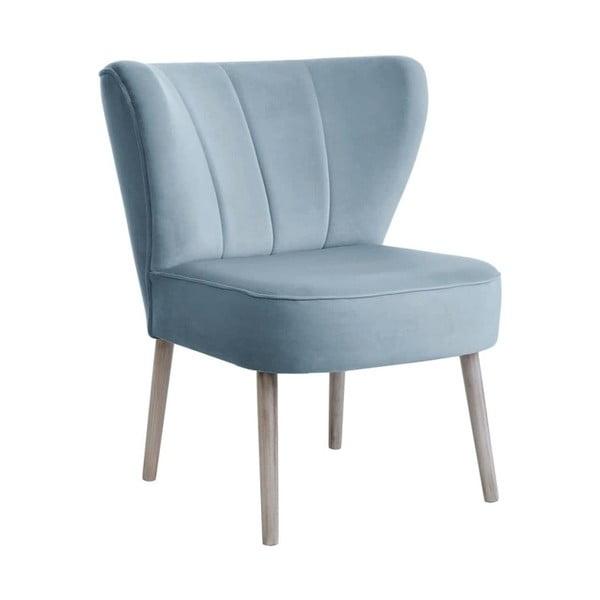 Světle modrá jídelní židle JohnsonStyle Paola