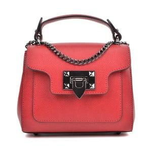 Červená kožená kabelka Isabella Rhea Rasna