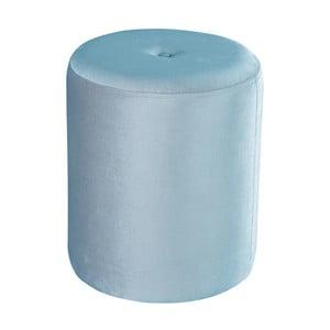 Světle modrý puf JohnsonStyle Ellen Magic Velvet, ⌀ 40 cm