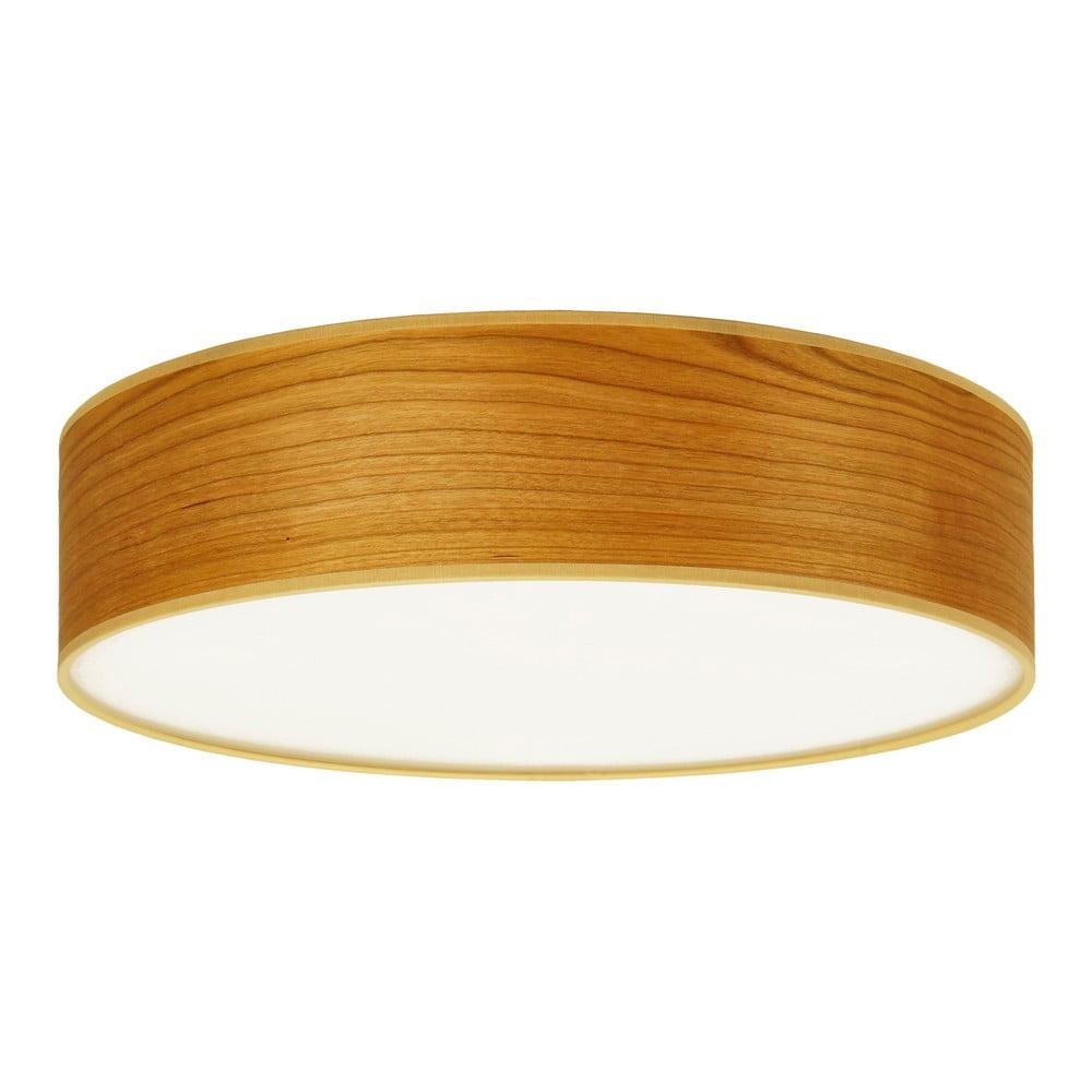 Stropní svítidlo z přírodní dýhy v barvě třešňového dřeva Sotto Luce TSURI,Ø40cm