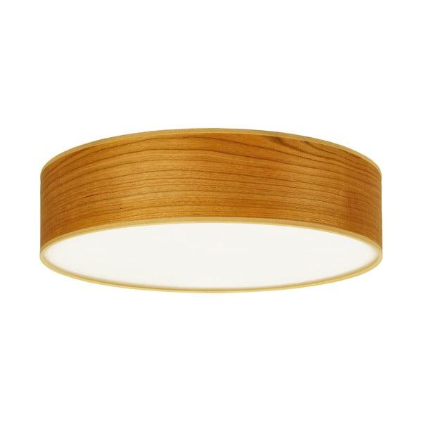 Stropní svítidlo z přírodní dýhy v barvě třešňového dřeva Sotto Luce TSURI,⌀40cm