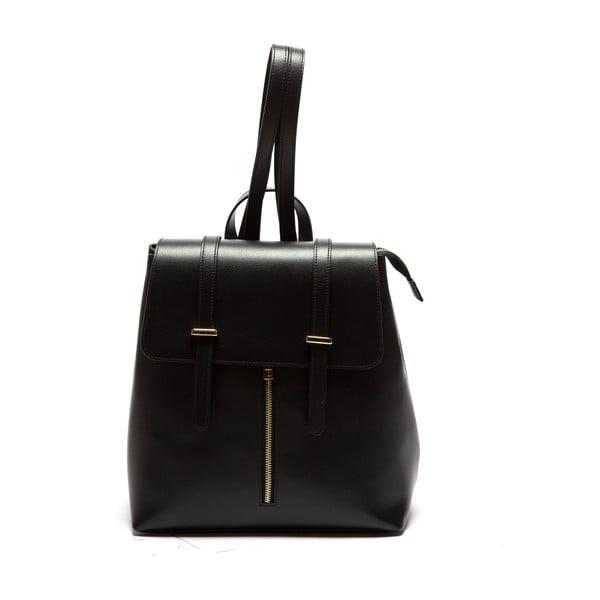 Černý kožený batoh Sofia Cardoni Noemi