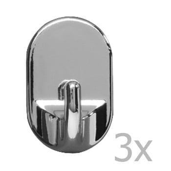 Set 3 cârlige de perete Wenko Medium Oval Hooks Chrome de la Wenko