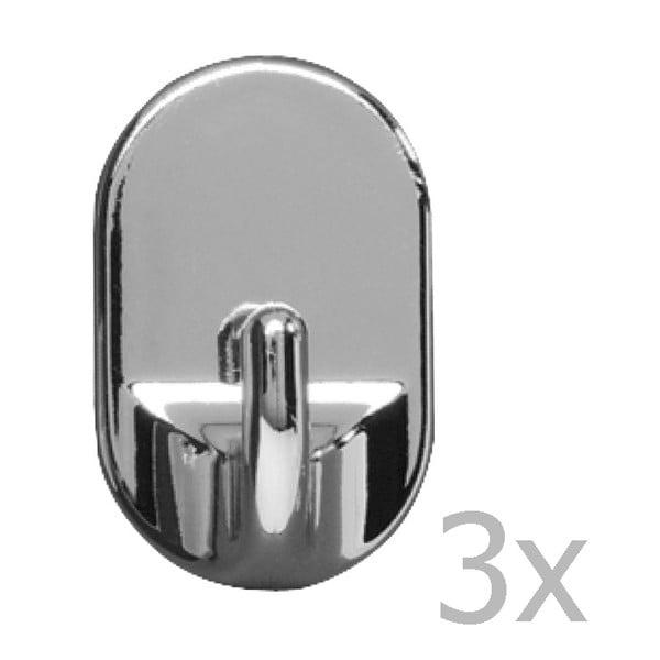 Set 3 cârlige de perete Wenko Medium Oval Hooks Chrome