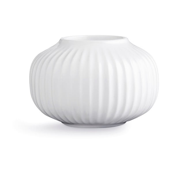 Sfeșnic din porțelan pentru lumânările de ceai Kähler Design Hammershoi, ⌀ 10 cm,alb