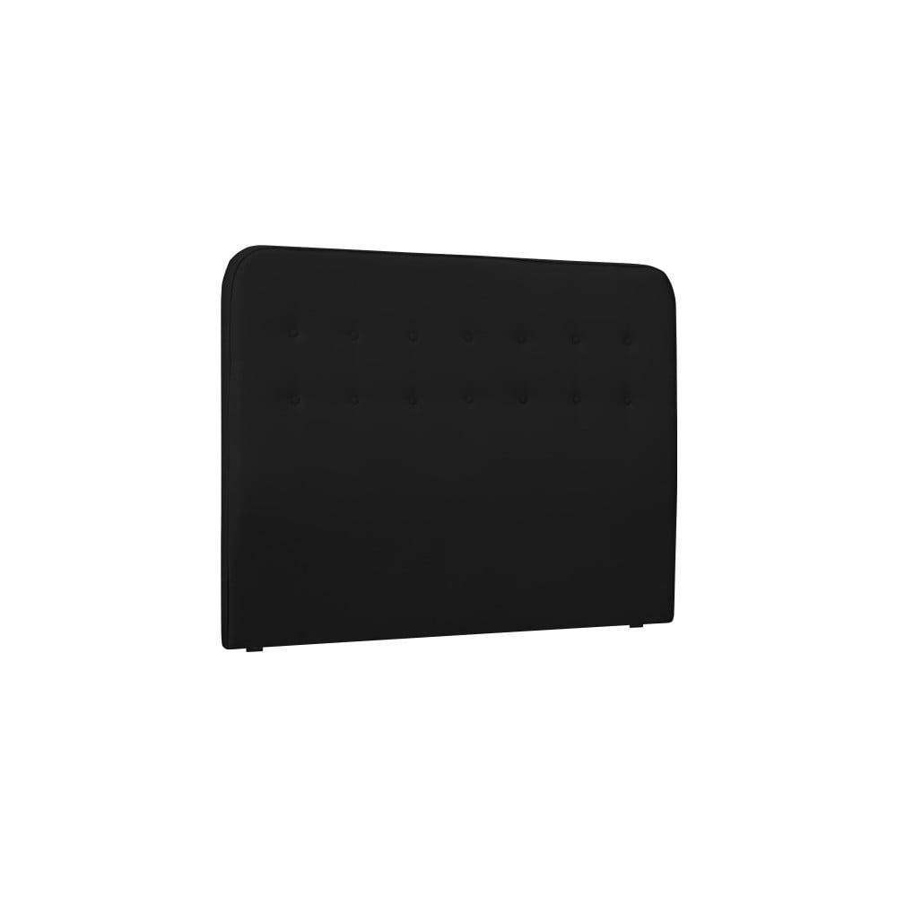 Černé čelo postele HARPER MAISON Lena, 160 x 120 cm