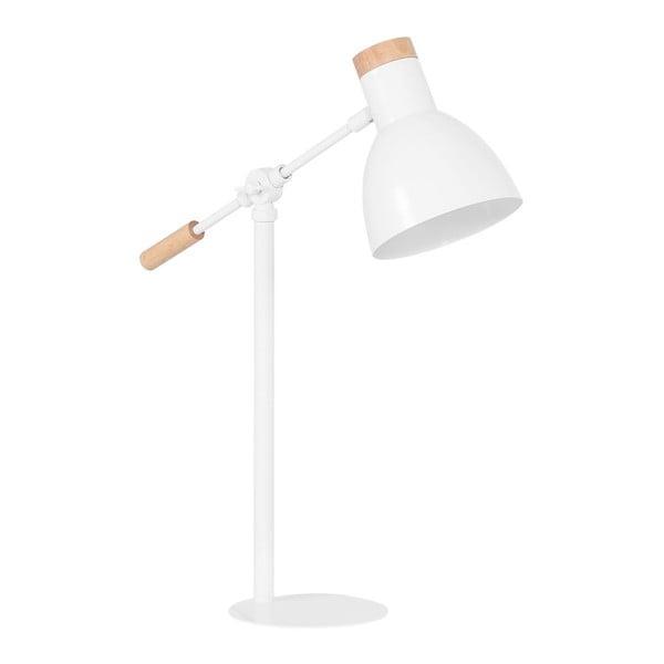 Biela stolová lampa Vox Lige