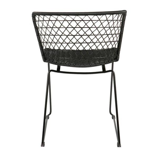 Sada 2 černých židlí s kovovou konstrukcí BePureHome Quadro