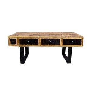 Konferenční stolek z masivního mangového dřeva se 4 zásuvkami Massive Home Bella, délka120cm