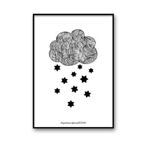 Autorský plakát Raining Stars, 30x40 cm