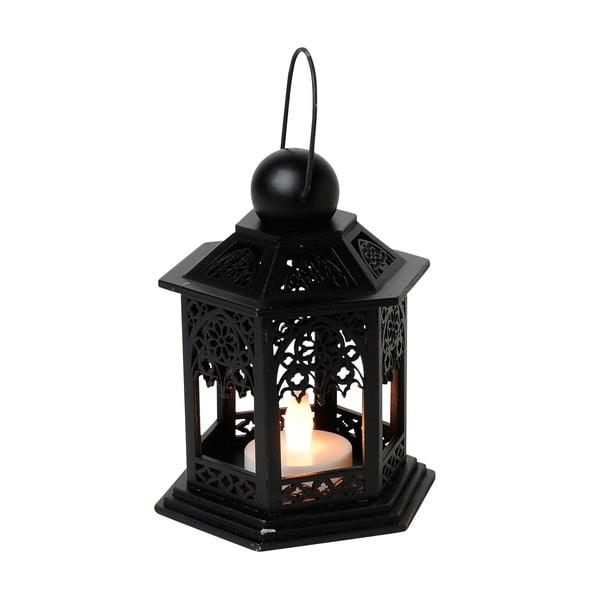 LED lucerna Christmas 13 cm, černá