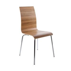 Jídelní židle se sedákem v dekoru světlého dřeva Kokoon Classic Zebrano