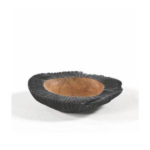Bol din lemn și ceramică Thai Natura, Ø 30 cm, negru