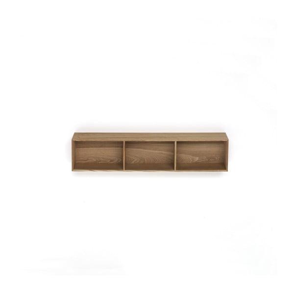 Dřevěná polička s 3 úložnými prostory Tomasucci Billa, 90x15x20cm