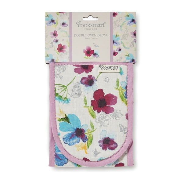 Dvojitá kuchyňská chňapka z bavlny Cooksmart England Chatsworth Floral
