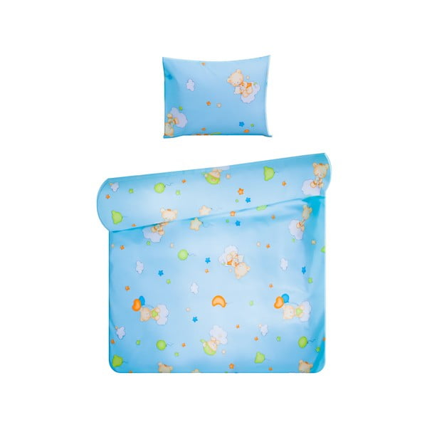 Set povlečení Home de Bleu 100x135 cm, Happy Bear Blue