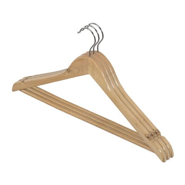 Zestaw 3 drewnianych wieszaków Domopak Living
