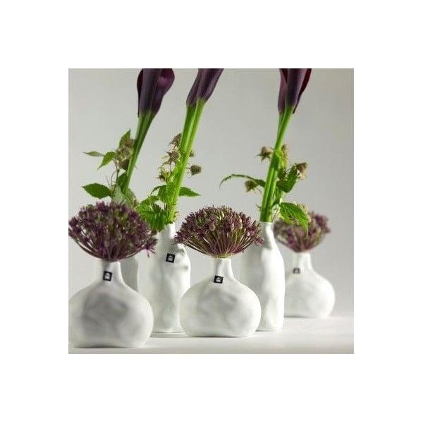Sada 4 porcelánových váz Crumpled