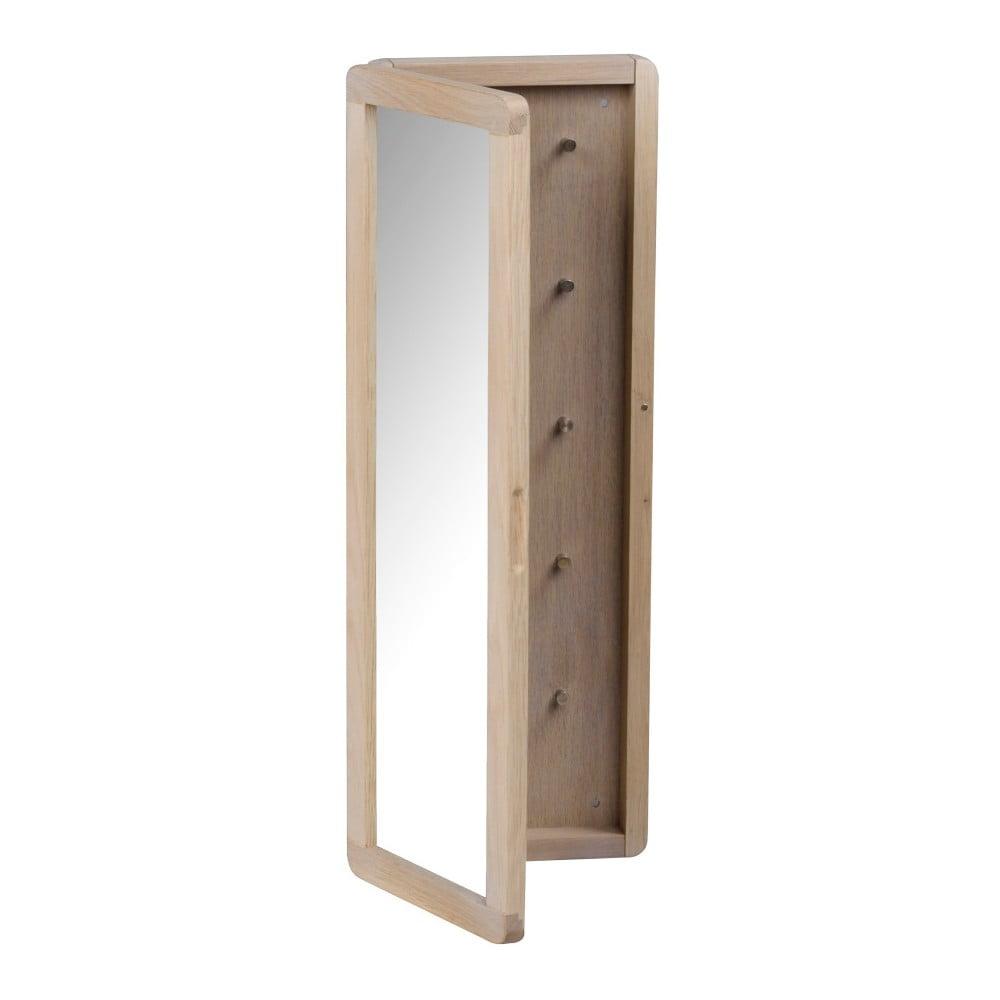 Matně lakovaná dubová zrcadlová skříňka na klíče Folke Gorgona