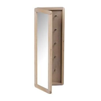 Dulăpior pentru chei din lemn de stejar, mat, cu oglindă Rowico Metro imagine