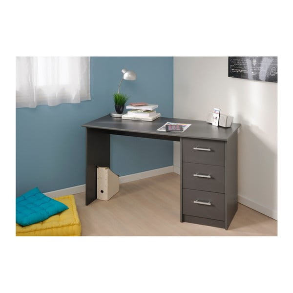 Tmavě šedý pracovní stůl Parisot Orléans
