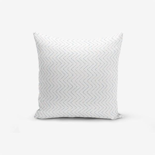 Față de pernă cu amestec din bumbac Minimalist Cushion Covers Colorful Zigzag Puro, 45 x 45 cm