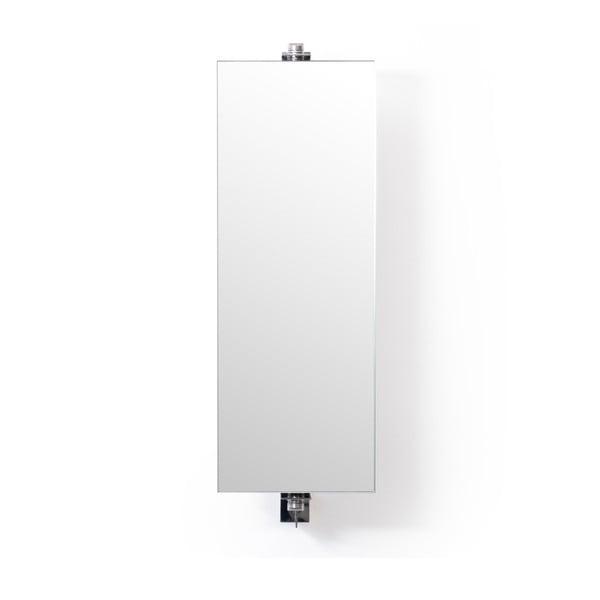 Otočné zrcadlo s úložným prostorem z dubového dřeva Wireworks Mezza Dark, výška 71 cm