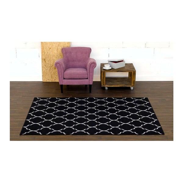 Černý koberec Velura, 200x290 cm