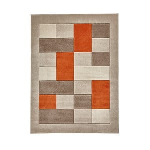 Covor Think Rugs Matrix , 60 x 120 cm, portocaliu - gri