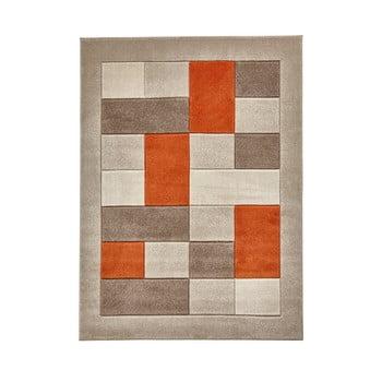 Covor Think Rugs Matrix , 60 x 120 cm, portocaliu – gri de la Think Rugs