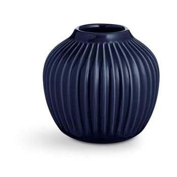 Vază din ceramică Kähler Design Hammershoi,înălțime 12,5 cm, albastru închis