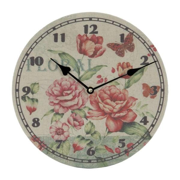 Nástěnné hodiny Floral, 29 cm