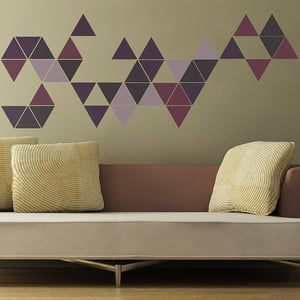 Samolepka na stěnu Triangle, 70x50 cm