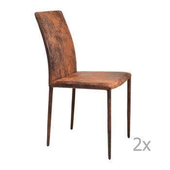 Set 2 scaune Kare Design Milano, maro