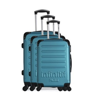 Sada 3 zelených cestovních kufrů na kolečkách Infinitif Horten-A